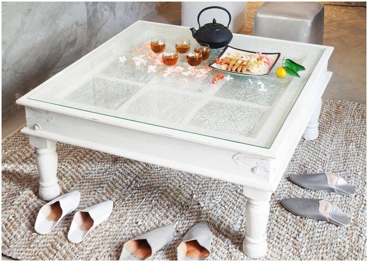 Square Coffee Table With Glass Top – Safeti in White Square Coffee Table (Image 26 of 30)
