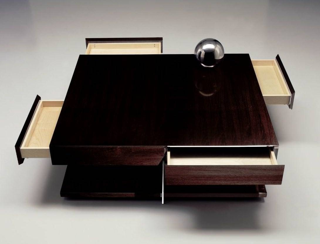 Square Coffee Table Wood : Get Stylish Living Rooms With Square In Square Coffee Tables (View 21 of 30)