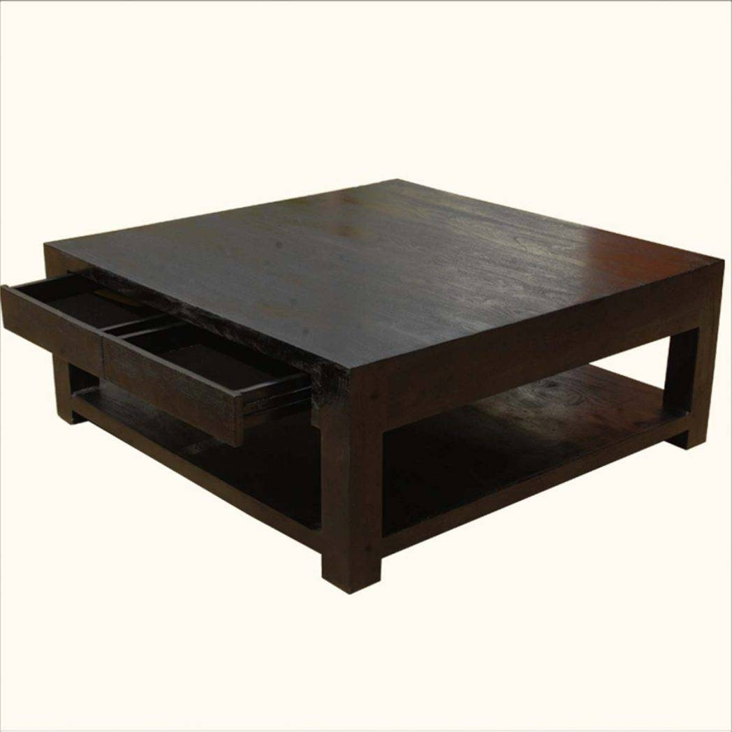 Square Dark Wood Coffee Table / Coffee Tables / Thippo within Square Dark Wood Coffee Table (Image 29 of 30)
