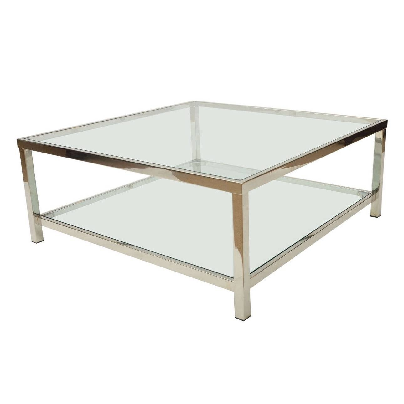 Square Glass Coffee Table For – Cocinacentral.co throughout Large Square Glass Coffee Tables (Image 27 of 30)