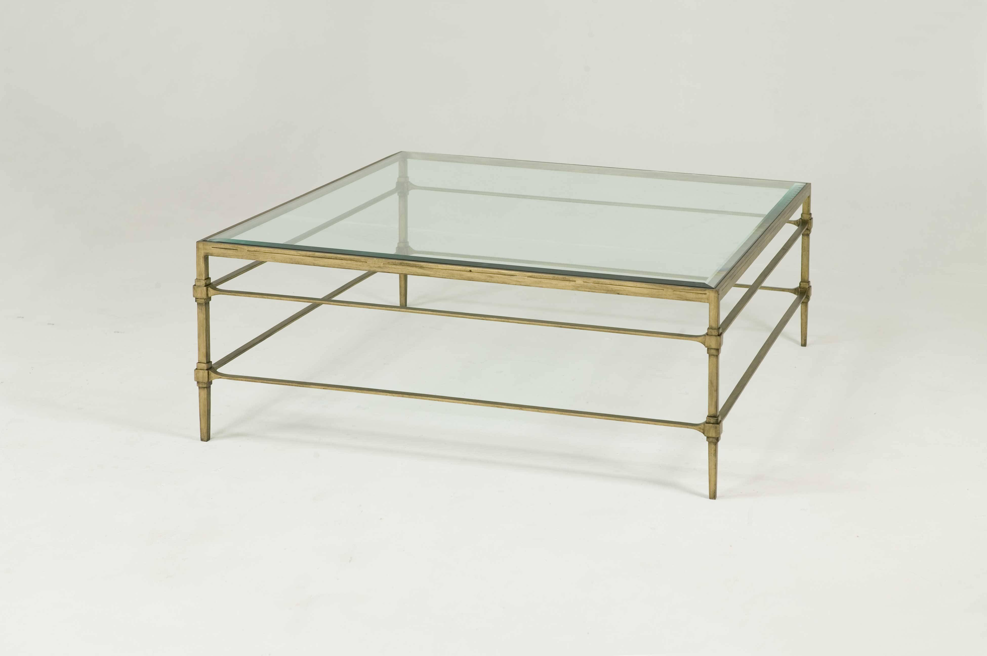 Square Glass Coffee Table For Living Room Decoration – Ruchi Designs Pertaining To Coffee Tables Glass And Metal (View 27 of 30)
