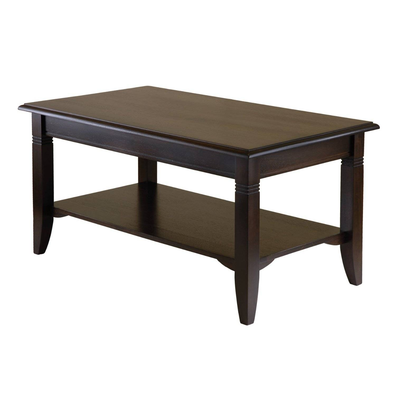 Square Mahogany Coffee Table With Storage And Shelves Painted With throughout Coffee Tables With Shelves (Image 29 of 30)