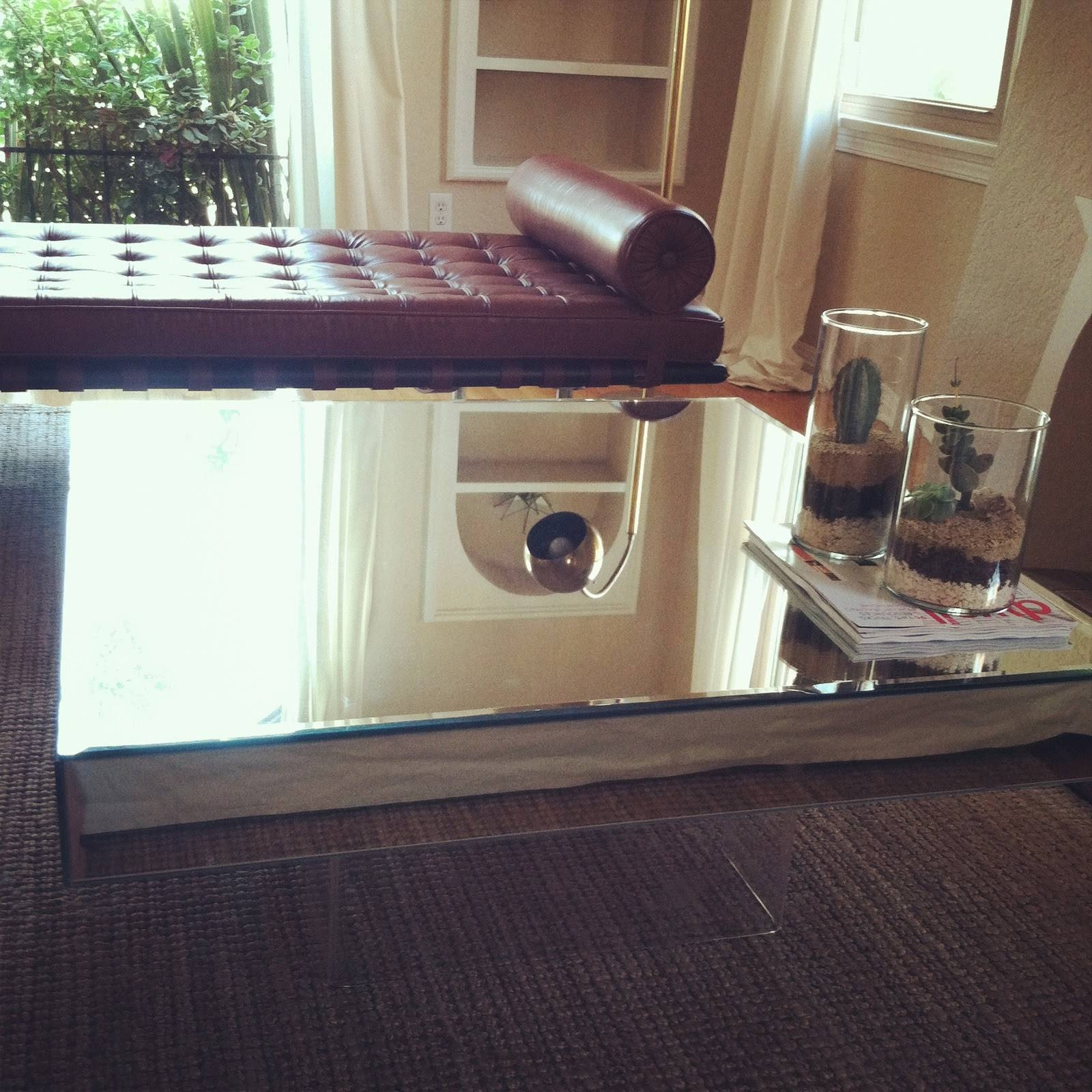 Square Mirrored Coffee Table : The Attractive Mirrored Coffee Regarding Coffee Tables Mirrored (View 27 of 30)