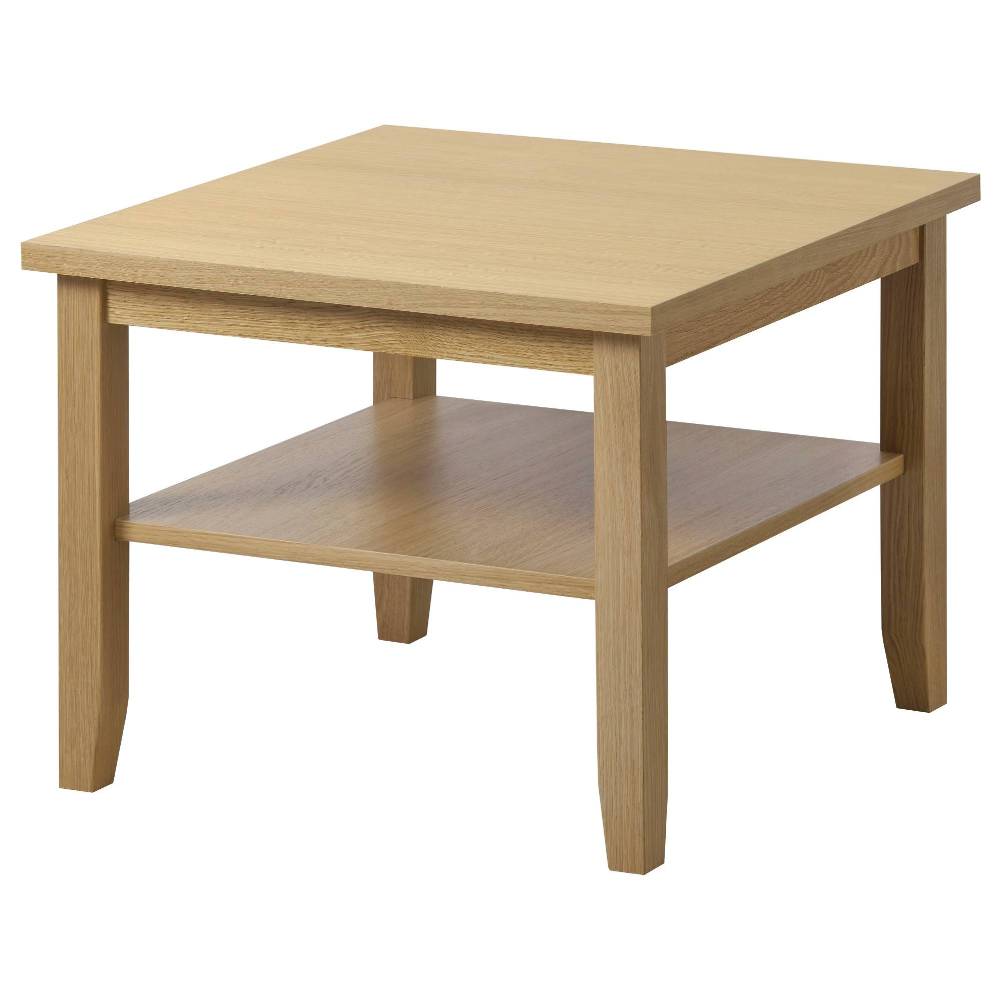 Square Oak Effect Coffee Table | Coffee Tables Decoration Throughout Oak Coffee Table Sets (View 7 of 30)