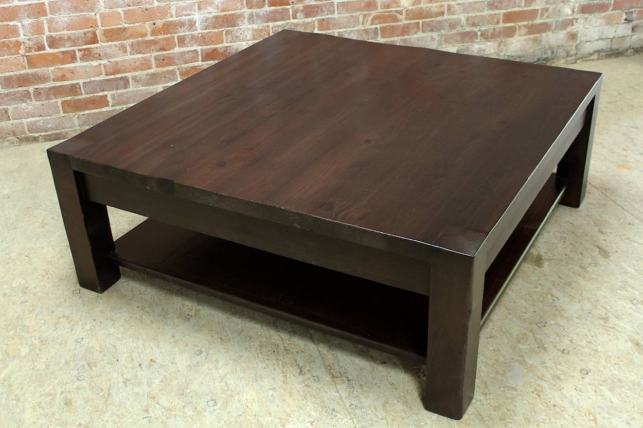 Square Parsons Coffee Table In Espresso - Ecustomfinishes intended for Square Pine Coffee Tables (Image 27 of 30)