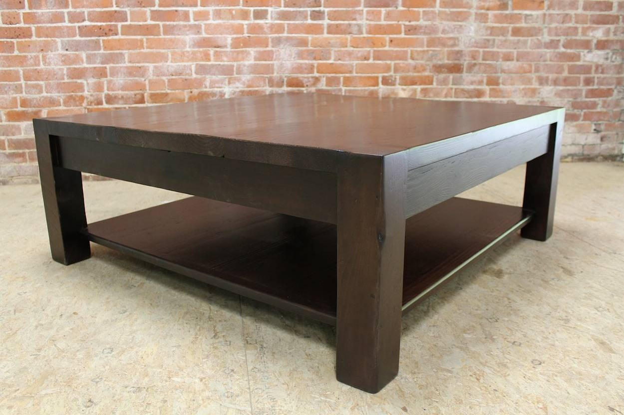 Square Parsons Coffee Table In Espresso - Ecustomfinishes with Espresso Coffee Tables (Image 23 of 30)