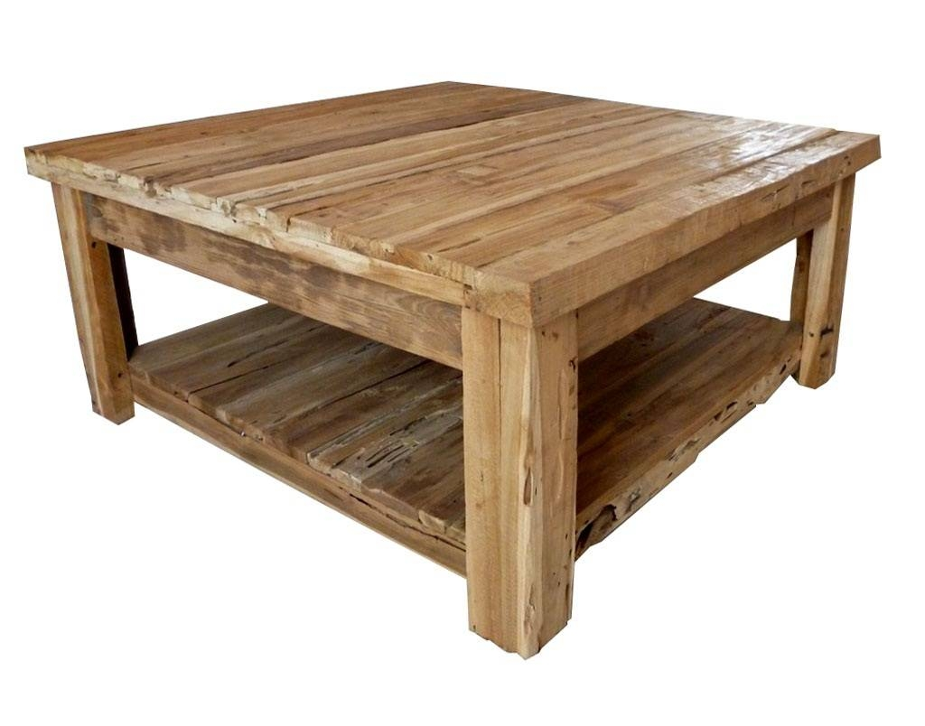 Square Rustic Coffee Table – White Rustic Square Coffee Table Intended For Antique Rustic Coffee Tables (View 11 of 30)