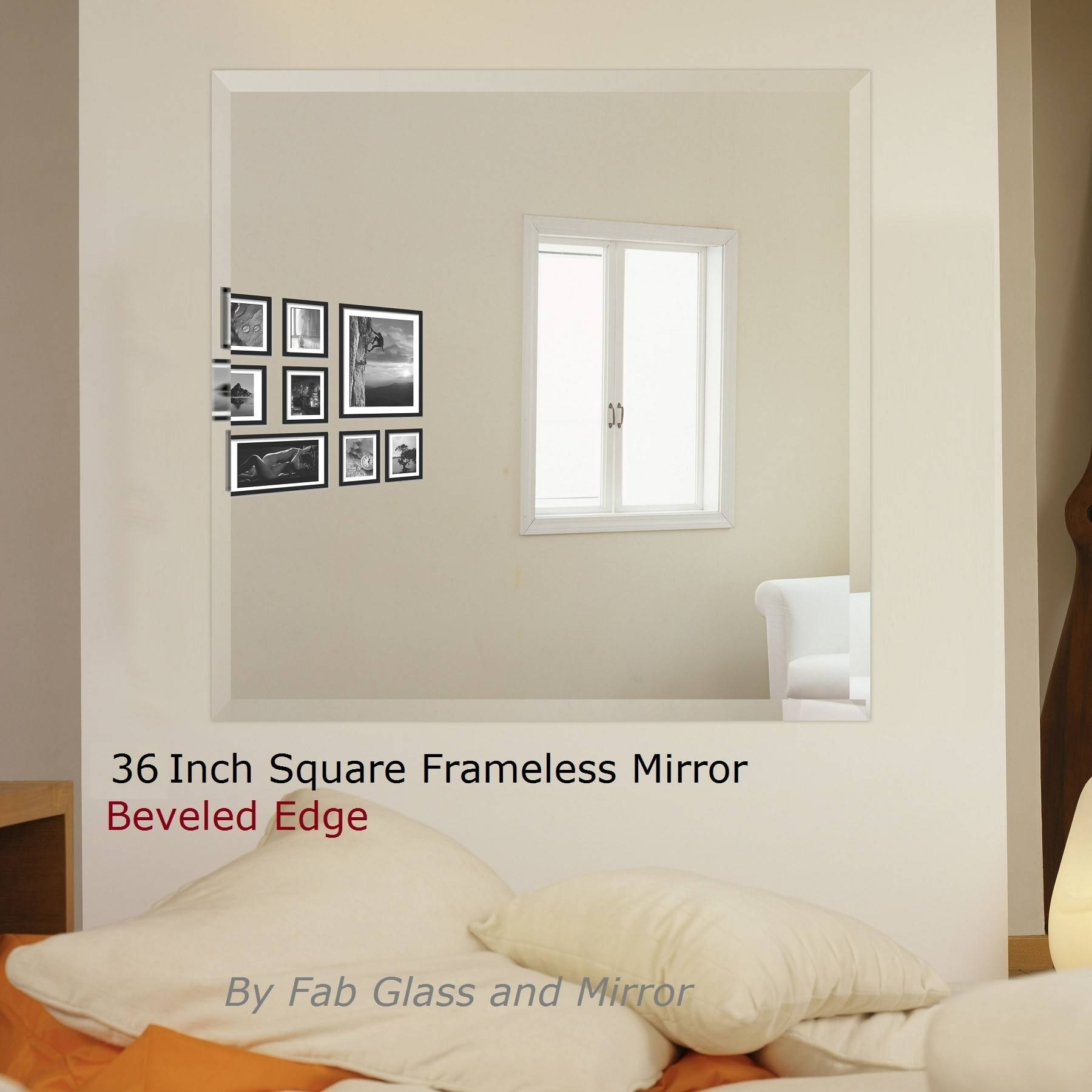 Square Wall Mirrors - Buy Frameless Bathroom Square Wall Mirrors throughout Square Wall Mirrors (Image 24 of 25)