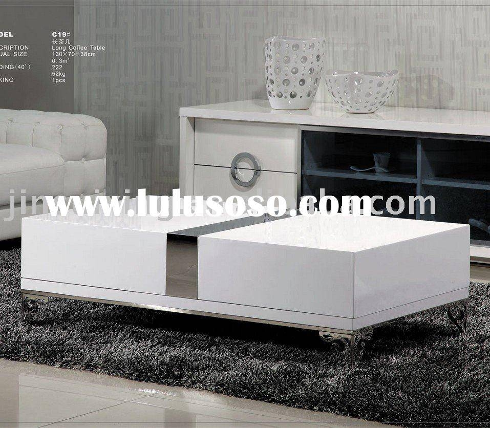 Tiffany White High Gloss Square Coffee Table Furniture: 30 The Best White Gloss Coffee Tables