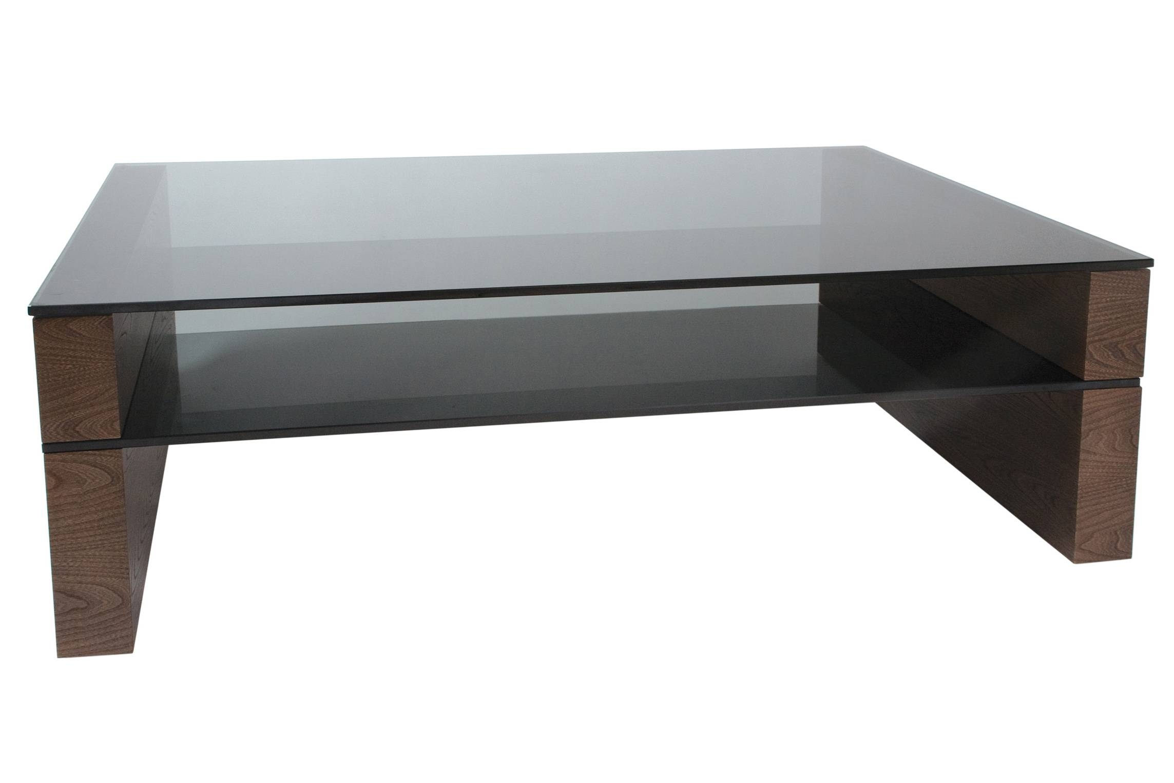 Square Wood And Glass Coffee Table | Coffee Tables Decoration for Square Dark Wood Coffee Tables (Image 27 of 30)