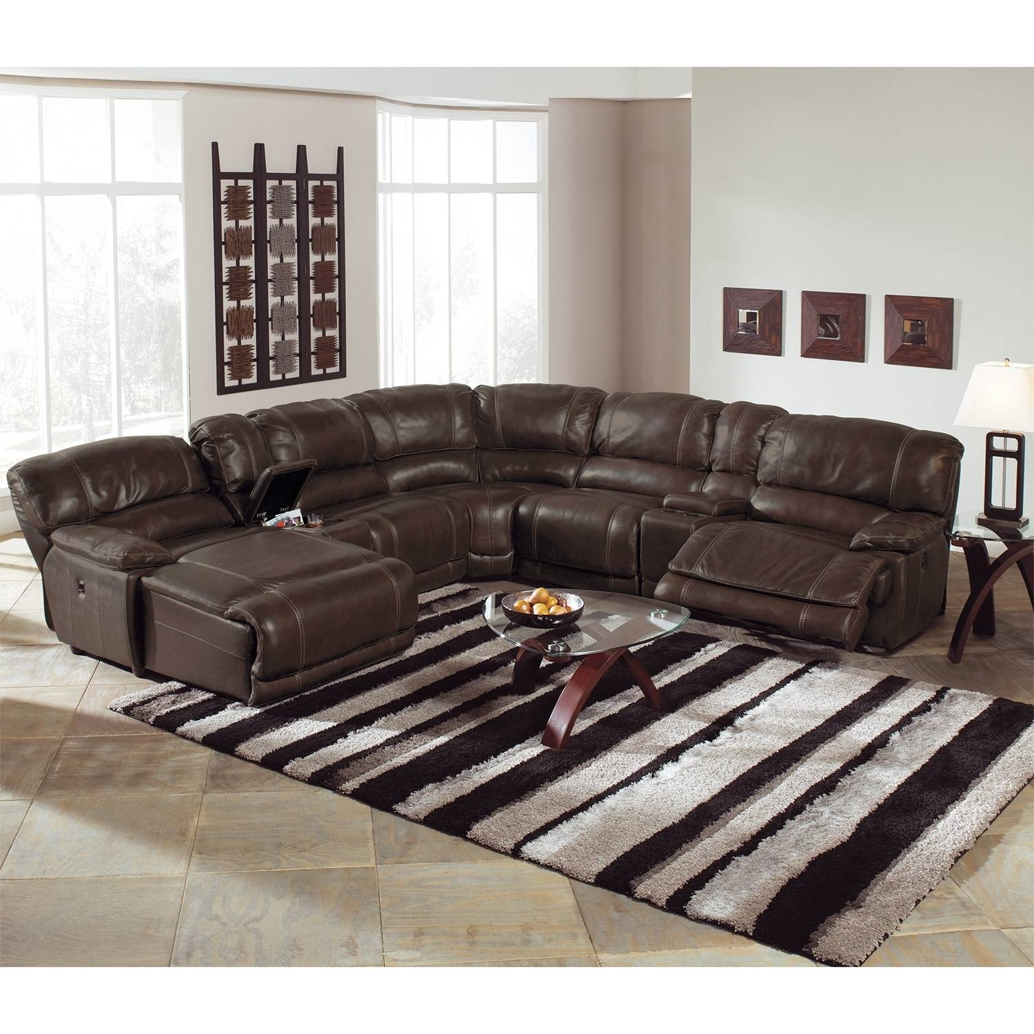 St. Malo 6-Piece Power Reclining Sectional With Left-Facing Chaise for 6 Piece Leather Sectional Sofa (Image 28 of 30)