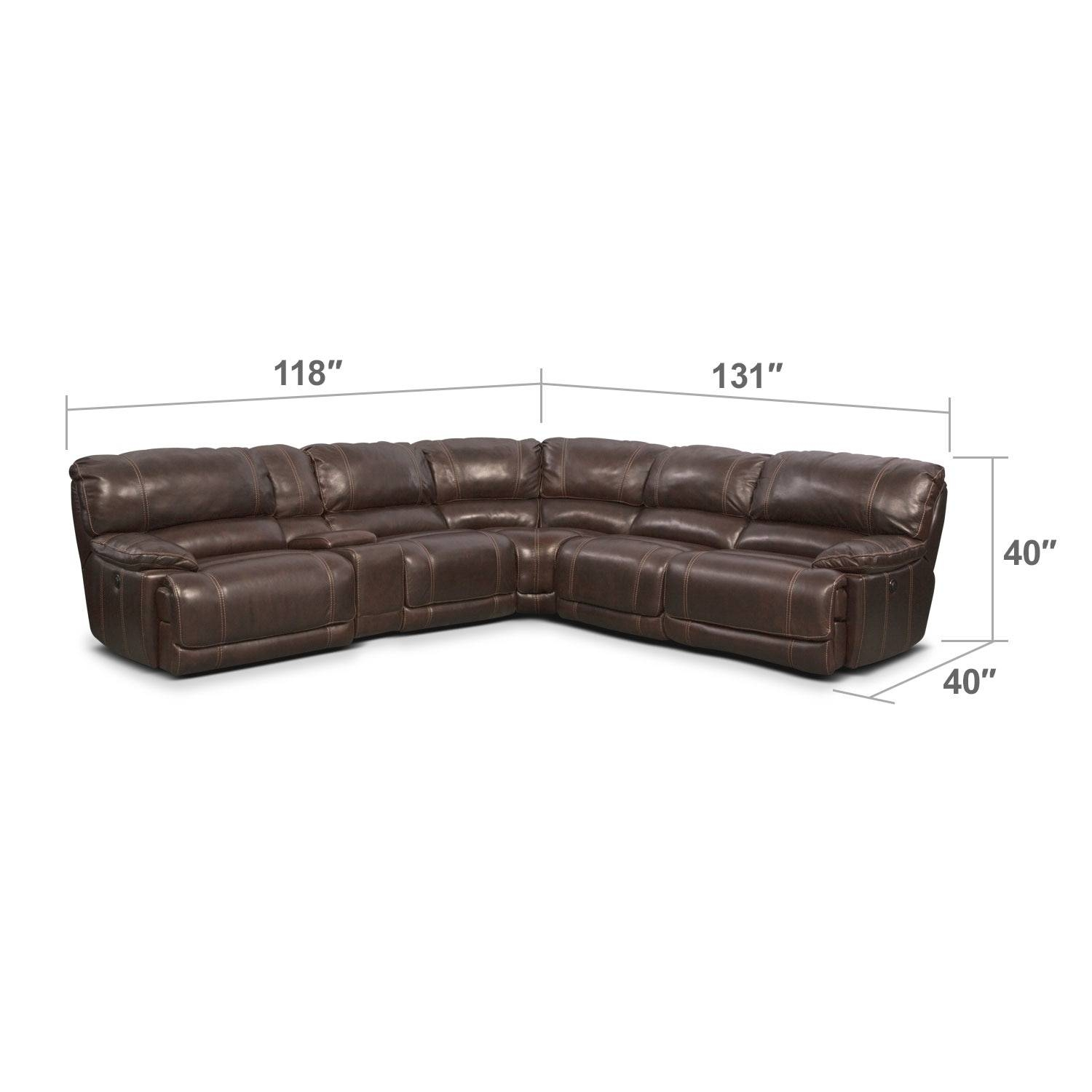 St. Malo 6-Piece Power Reclining Sectional With Modular Console for 6 Piece Modular Sectional Sofa (Image 27 of 30)