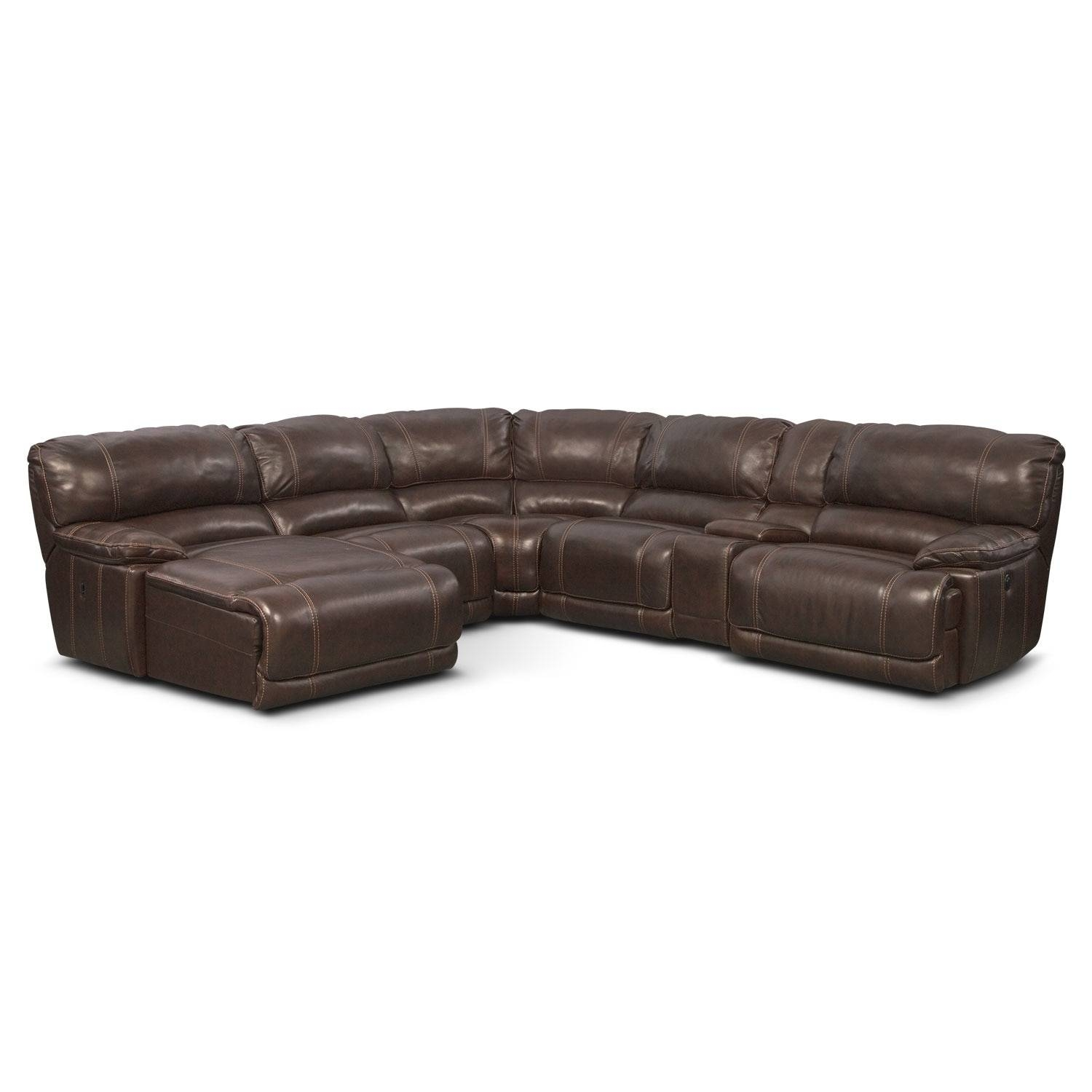 St. Malo 6-Piece Power Reclining Sectional With Right-Facing in 6 Piece Leather Sectional Sofa (Image 29 of 30)