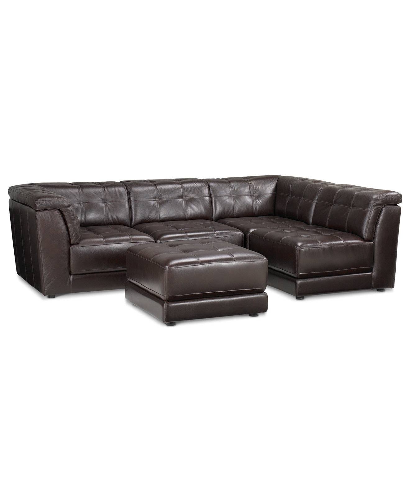 Stacey Leather 5-Piece Modular Sofa | Modular Sectional Sofa within Leather Modular Sectional Sofas (Image 30 of 30)