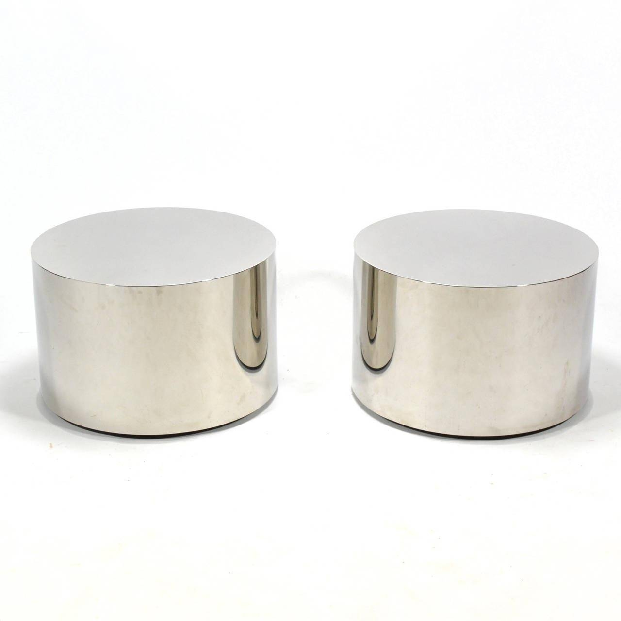 Stainless Steel Glass Coffee Table | Coffee Table Design Ideas throughout Silver Drum Coffee Tables (Image 30 of 30)