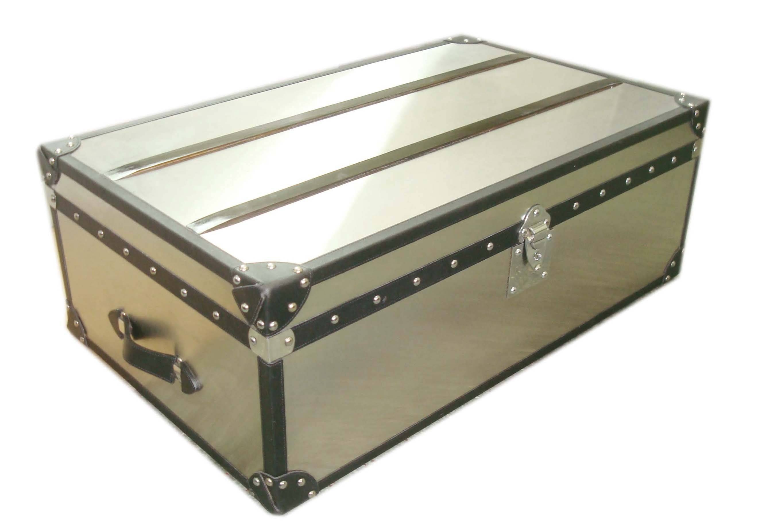 Stainless Steel Trunk Coffee Table - Szahomen with Stainless Steel Trunk Coffee Tables (Image 16 of 30)