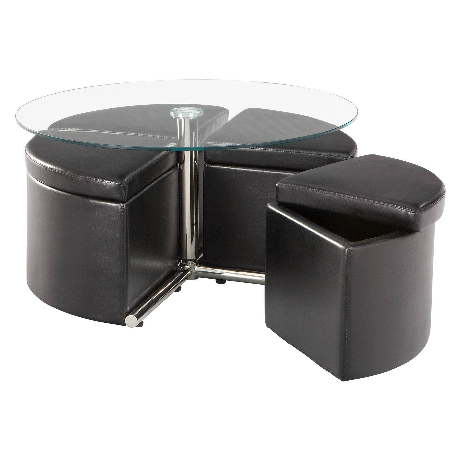 Standard Furniture Cosmo Adjustable Height Round Glass Top Coffee pertaining to Cosmo Coffee Tables (Image 28 of 30)
