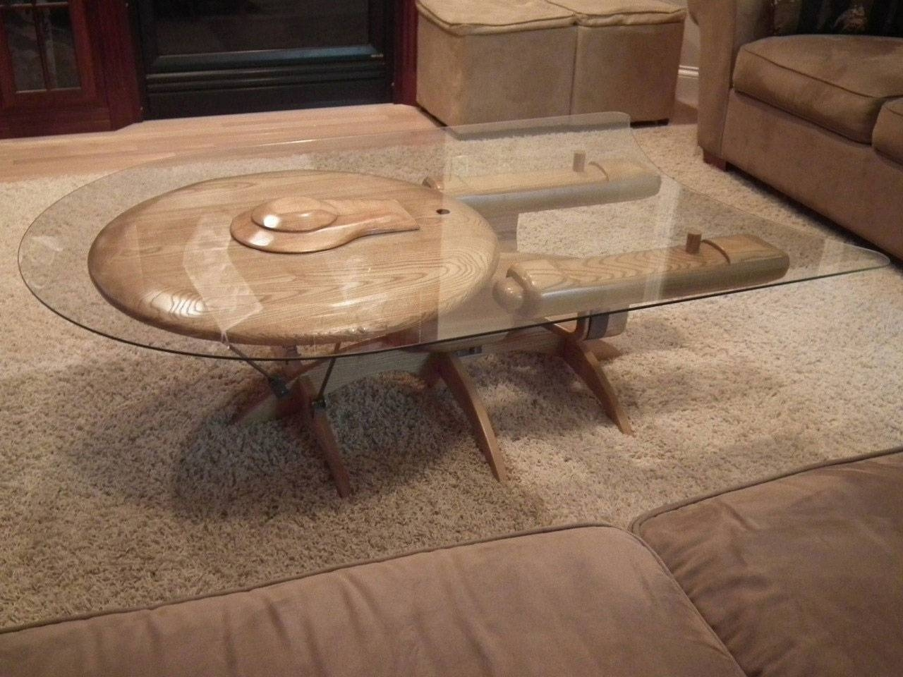 Star Trek Uss Enterprise Ncc 1701-C Coffee Table - The Green Head inside C Coffee Tables (Image 26 of 30)