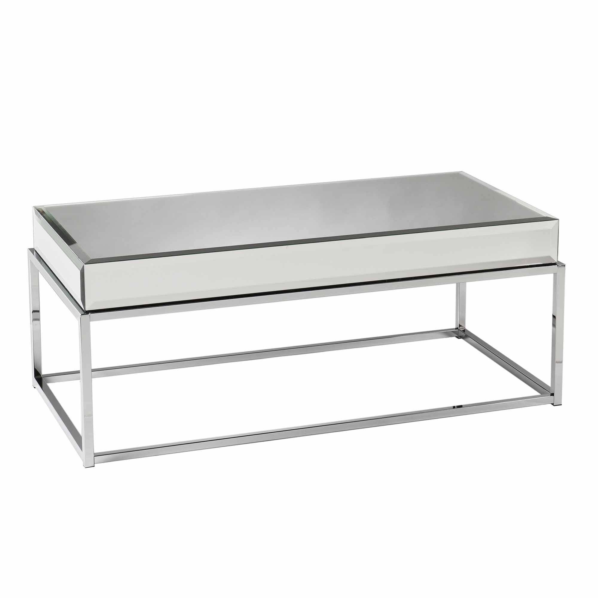 Stassi Coffee Table, Mirrored - Walmart inside Mirrored Coffee Tables (Image 28 of 30)