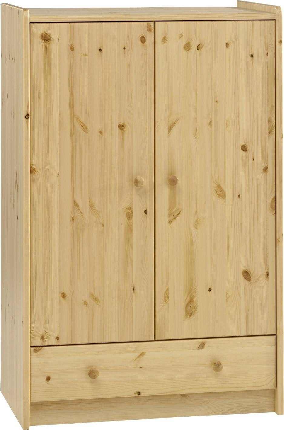Steens For Kids Pine Low Wardrobe In Natural Pine Wardrobes (View 11 of 15)