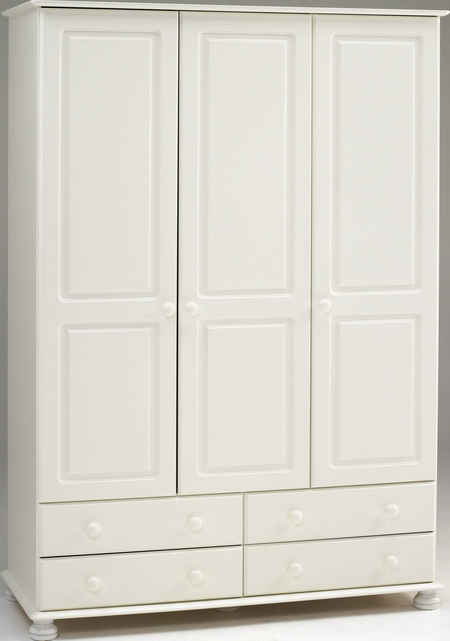 Steens Richmond White 3 Door 4 Drawer Wardrobe With 3 Door White Wardrobes With Drawers (View 13 of 15)