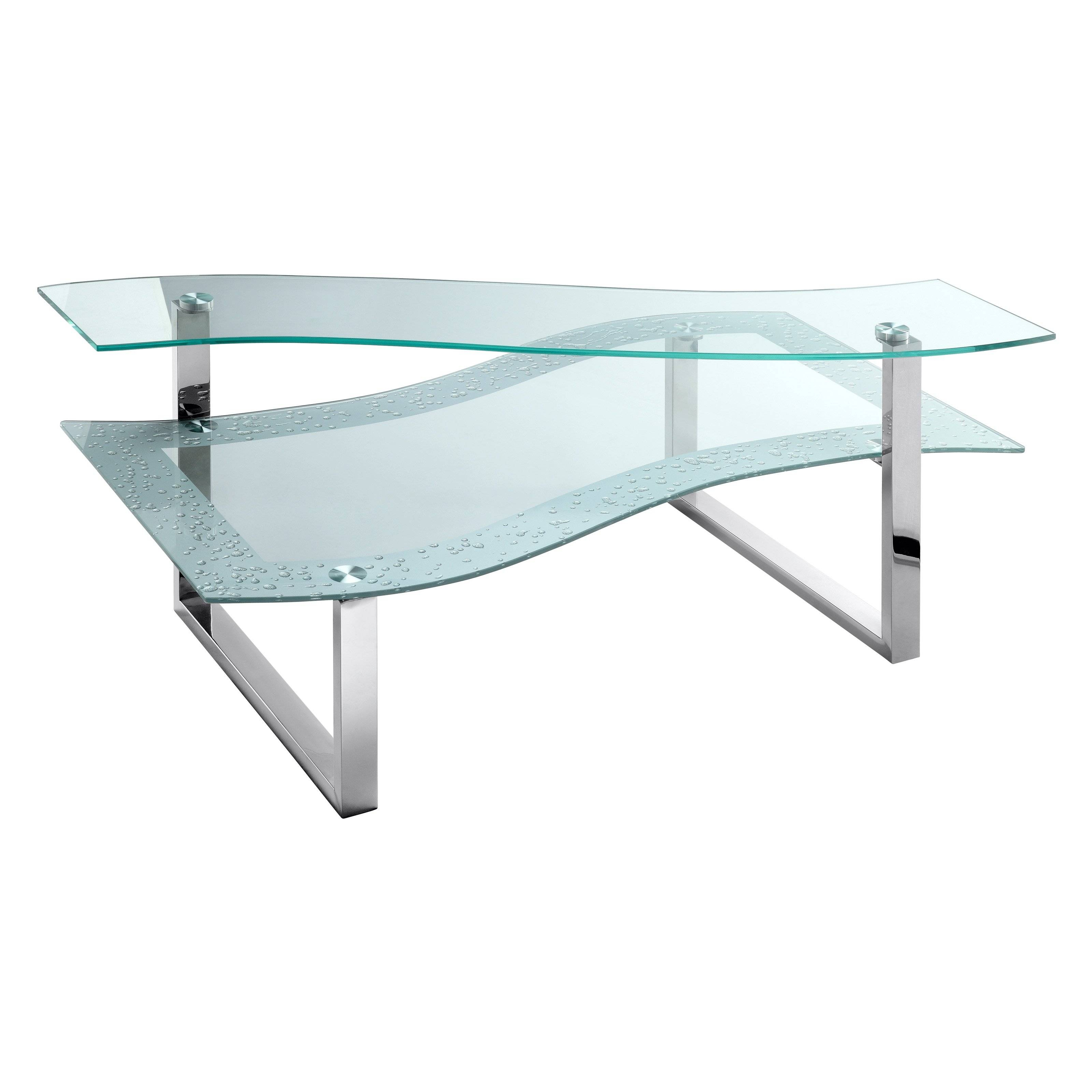 Stein World Lagos Polished Steel And Glass Coffee Table - Coffee throughout Glass Steel Coffee Tables (Image 28 of 30)