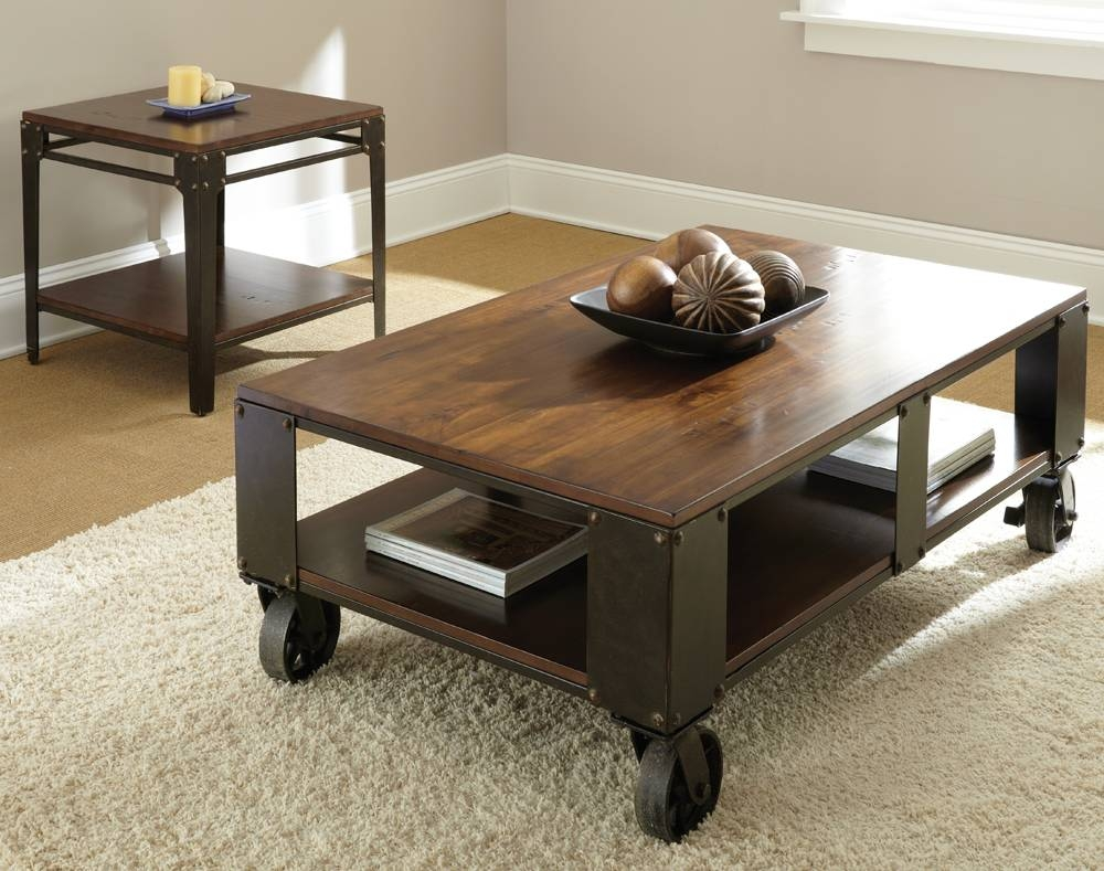 Steve Silver Barrett 2 Piece Coffee Table Set W/ Casters In throughout 2 Piece Coffee Table Sets (Image 29 of 30)