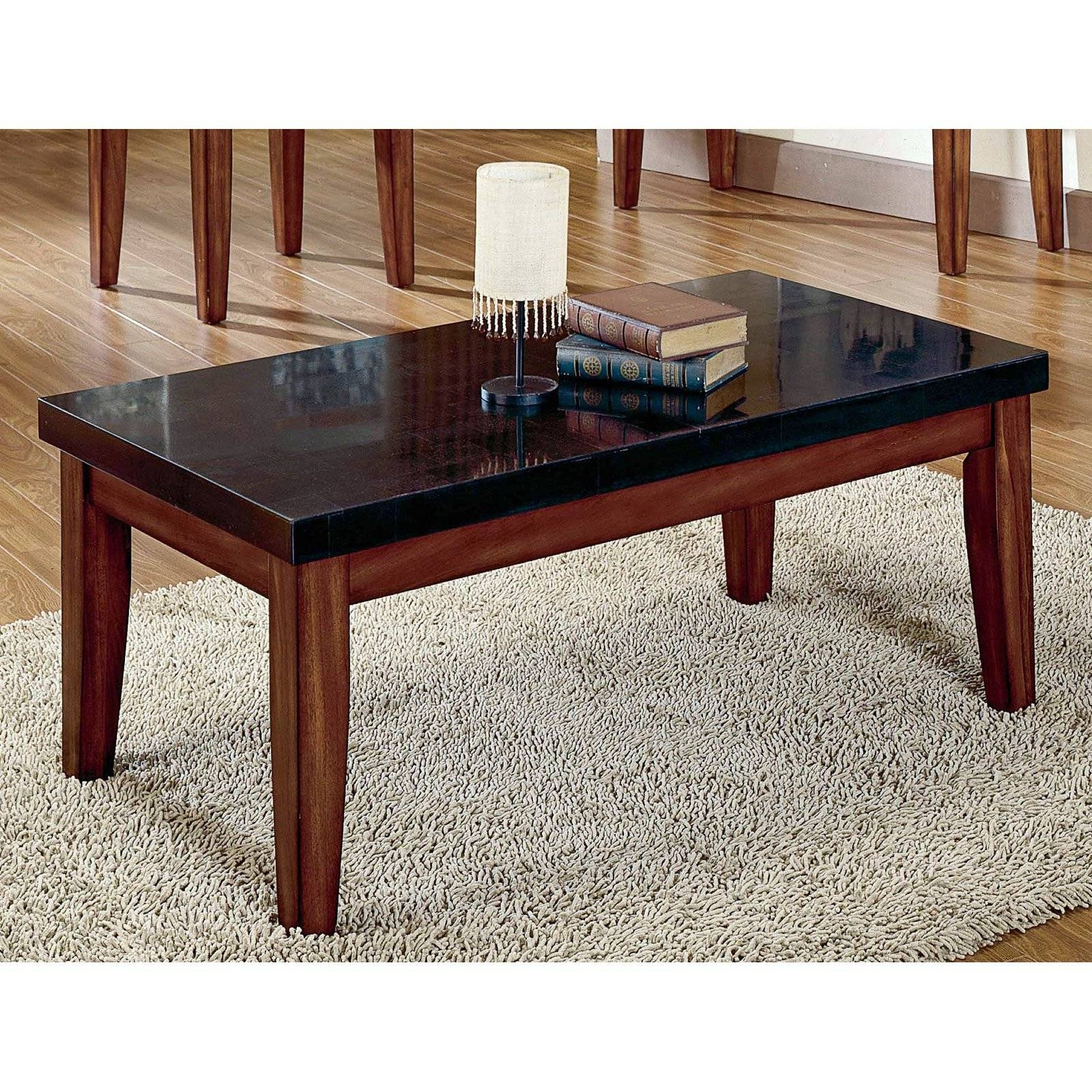Steve Silver Montibello Granite Top Coffee Table | Hayneedle pertaining to White And Black Coffee Tables (Image 24 of 30)