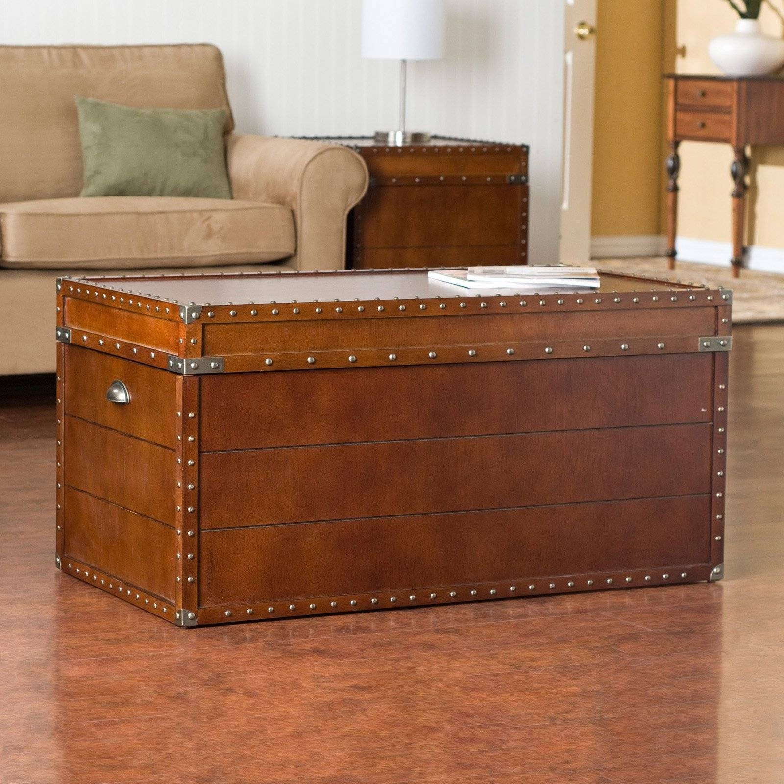 Steve Silver Voyage Trunk Coffee Table | Hayneedle for Trunk Coffee Tables (Image 23 of 30)