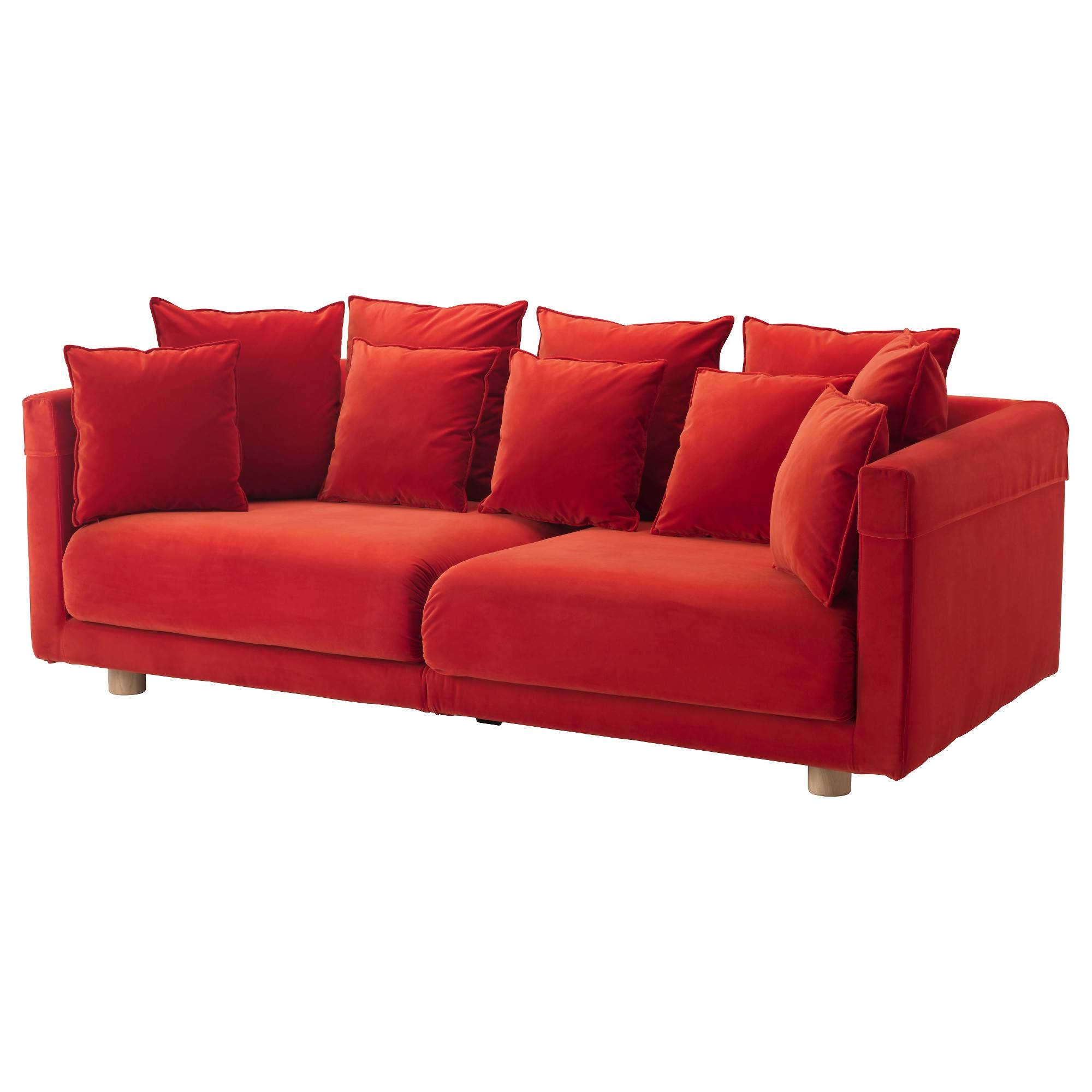 Stockholm 2017 Sofa - Sandbacka Orange - Ikea in Orange Ikea Sofas (Image 26 of 30)