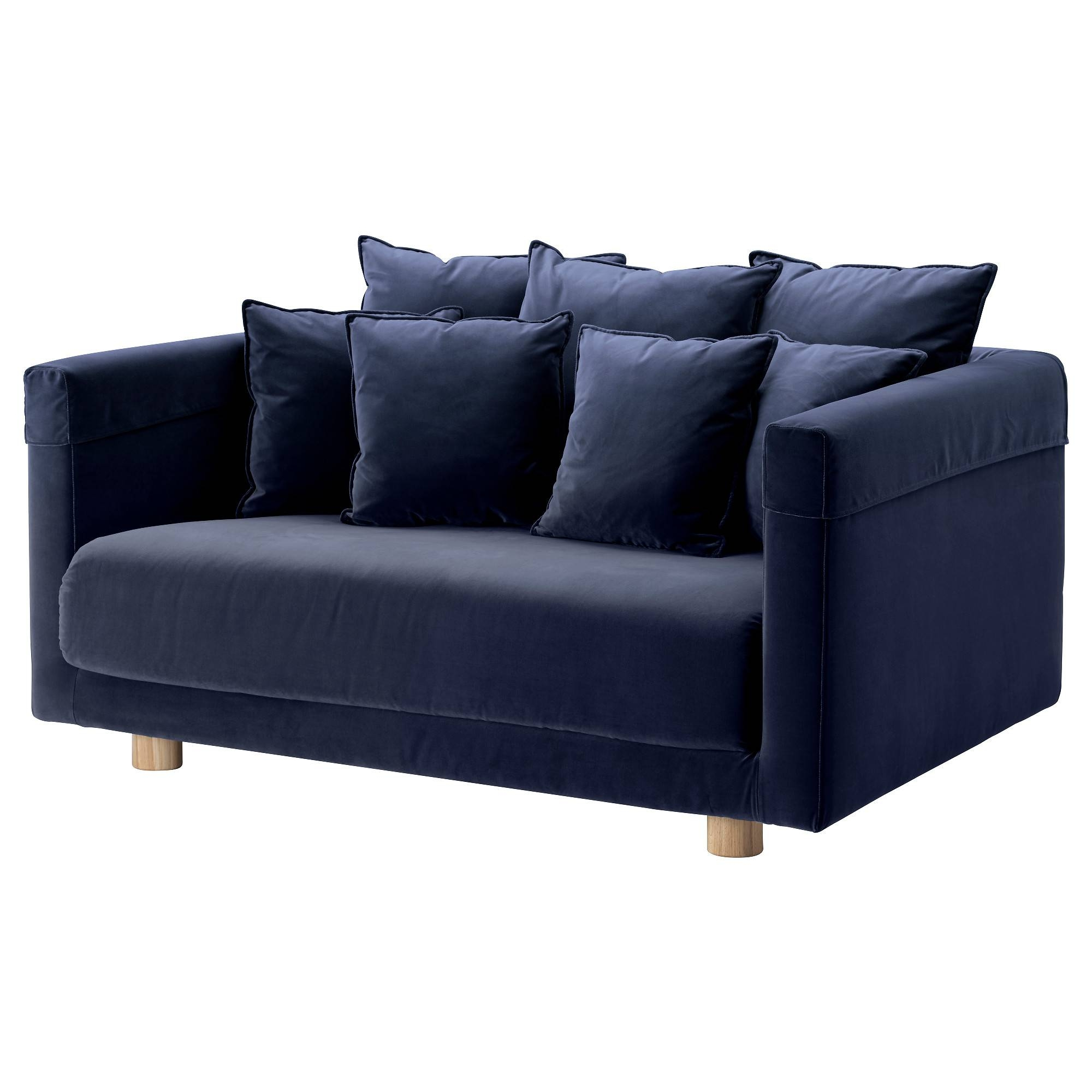Stockholm 2017 Two-Seat Sofa Sandbacka Dark Blue - Ikea regarding Ikea Two Seater Sofas (Image 23 of 30)