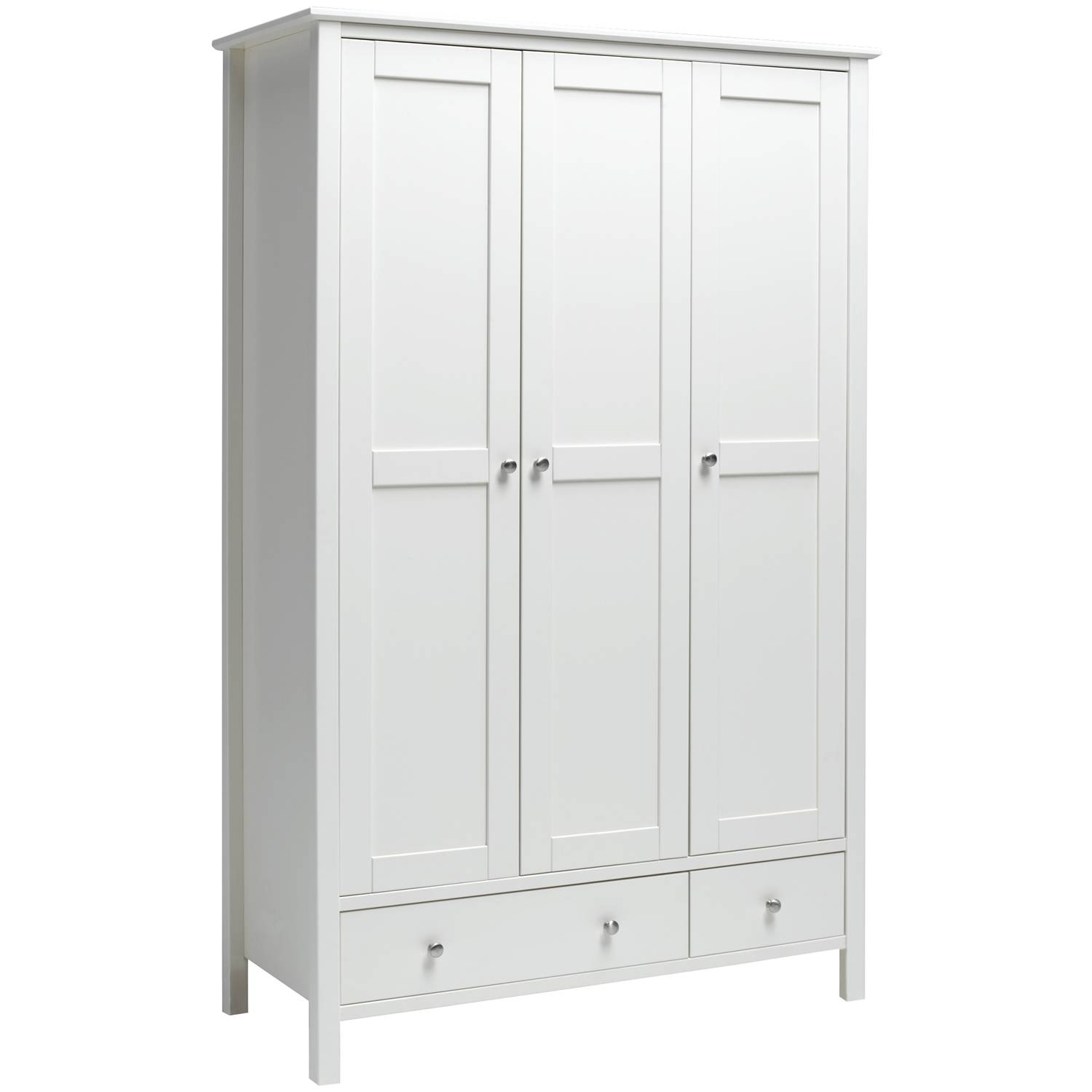 Stockholm 3 Door 2 Drawer Wardrobe White - Simply Furniture within 3 Door White Wardrobes (Image 24 of 30)