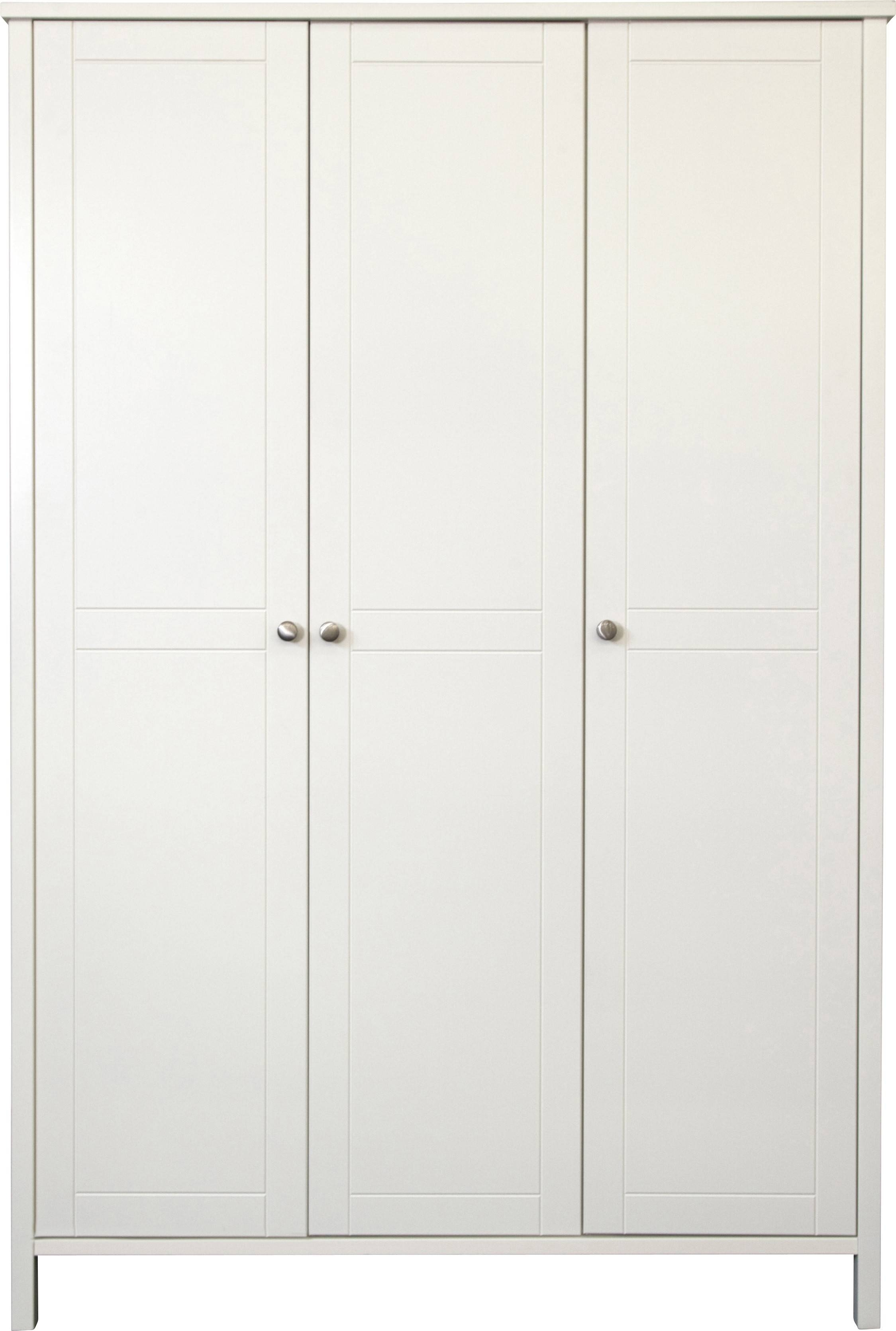 Stockholm White 3 Door Wardrobe | Bedroom Furniture Direct for 3 Door White Wardrobes (Image 25 of 30)