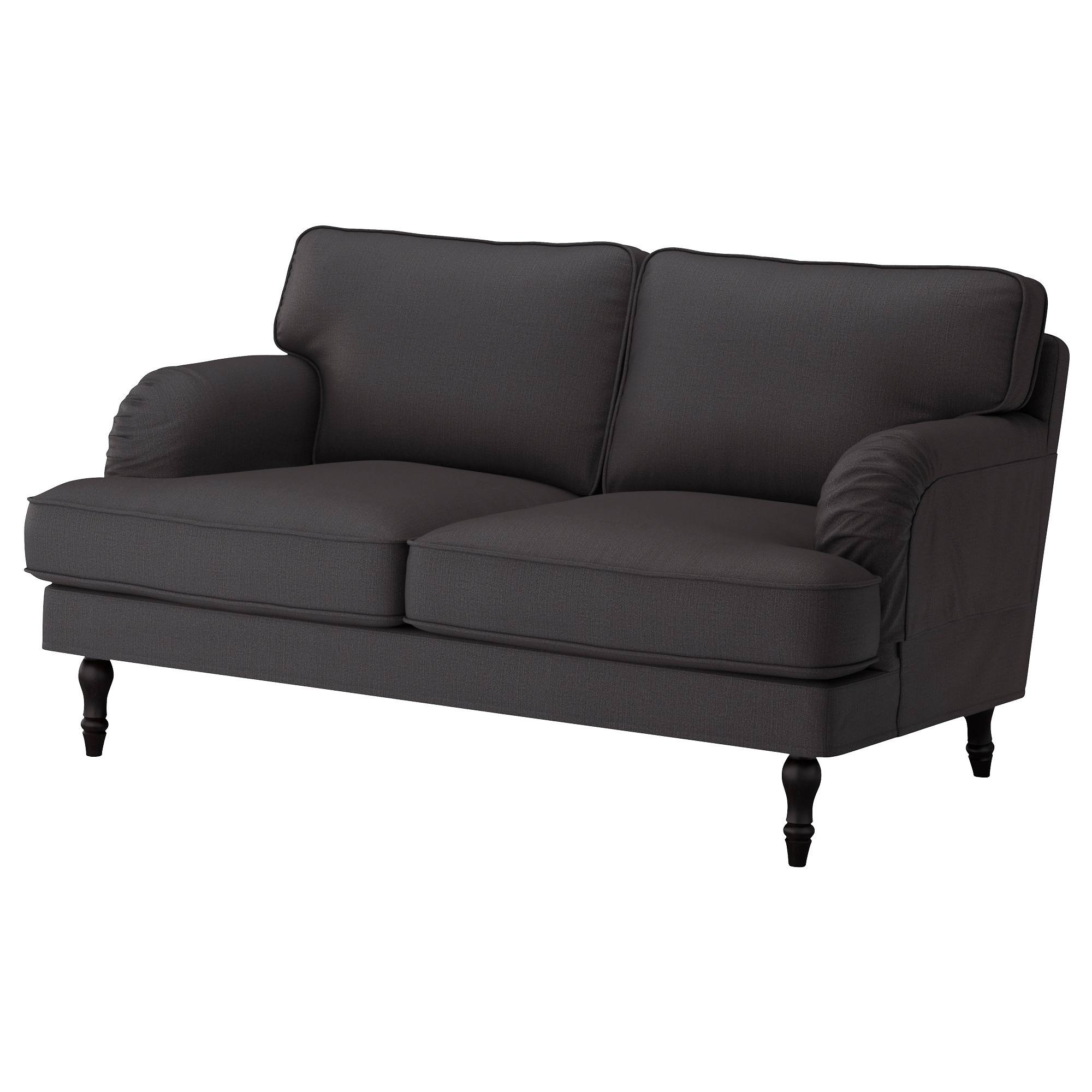 Stocksund Cover Two-Seat Sofa Nolhaga Dark Grey - Ikea regarding Ikea Two Seater Sofas (Image 24 of 30)