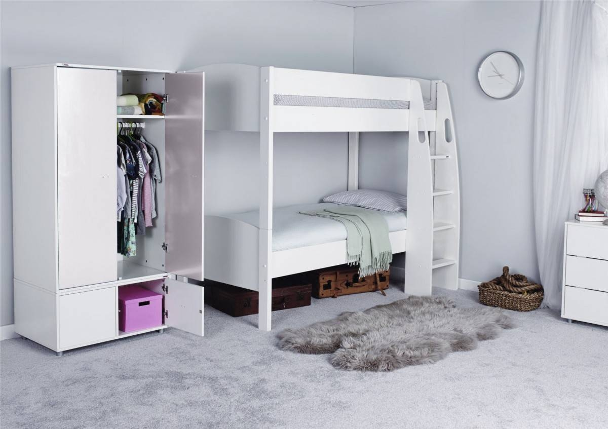 Stompa Unos Detachable Bunk Bed - Only - Girls Beds - Childrens in Stompa Wardrobes (Image 6 of 15)