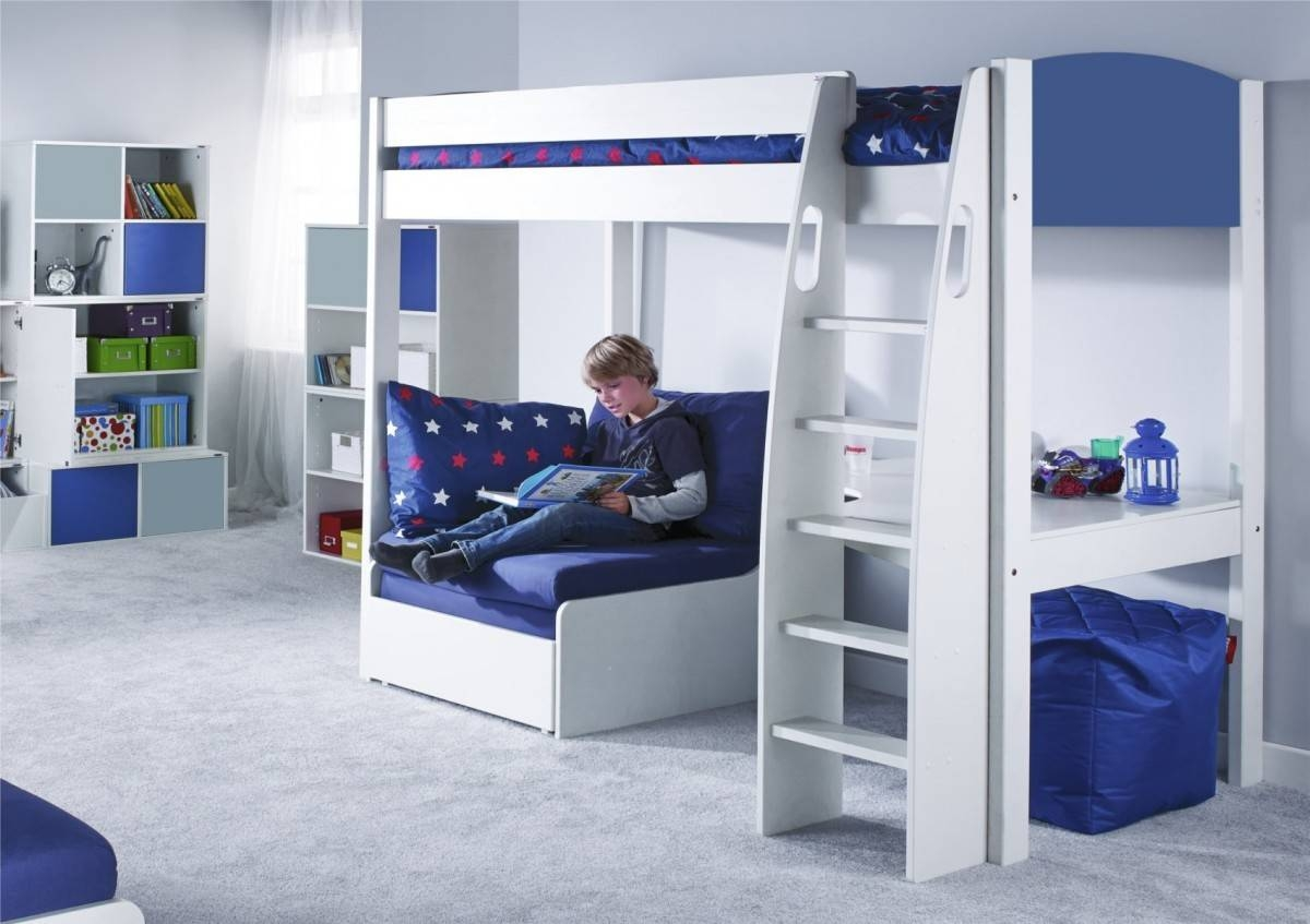 Stompa Unos High Sleeper Frame With Desk And Chair Bed Only with regard to High Sleeper Bed With Sofa (Image 25 of 30)
