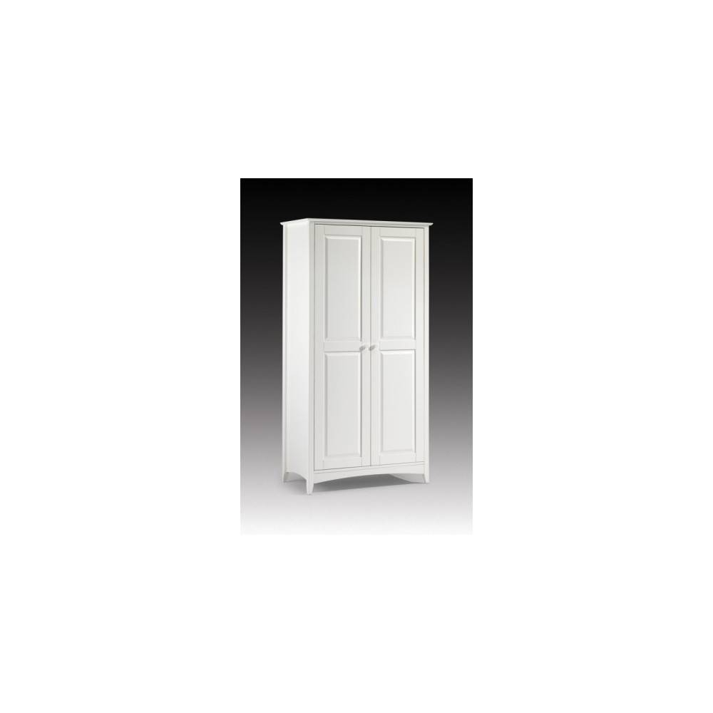 Stone White 2 Door Wooden Wardrobe intended for Cameo 2 Door Wardrobes (Image 13 of 15)