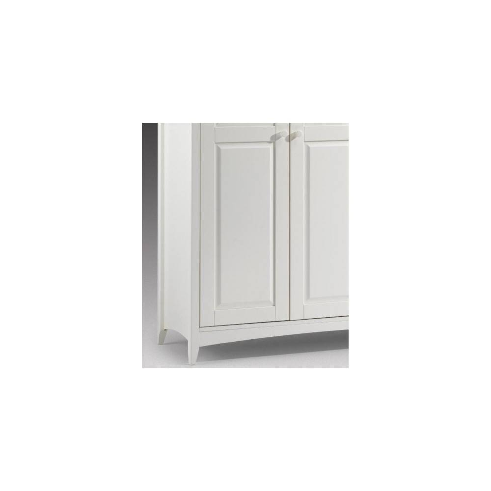 Stone White 2 Door Wooden Wardrobe with Cameo 2 Door Wardrobes (Image 14 of 15)