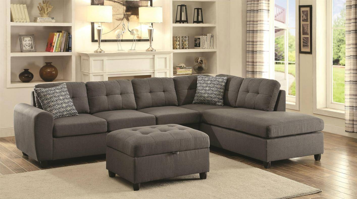 Stonenesse Grey Fabric Sectional Sofa - Steal-A-Sofa Furniture throughout 7 Seat Sectional Sofa (Image 30 of 30)