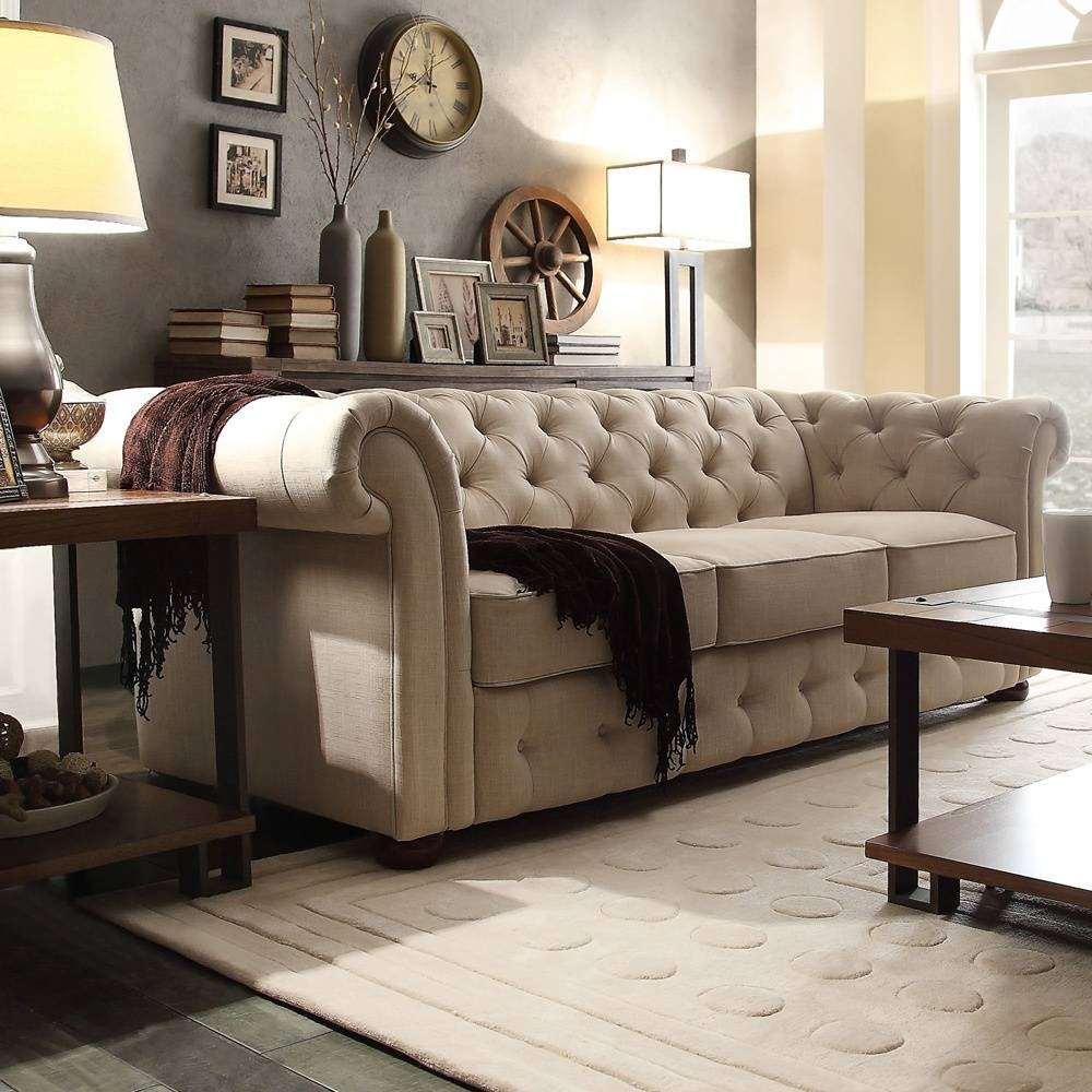 Storage 10 Best Chesterfield Sofas In 2017 Reviews Of Linen And with regard to Tufted Leather Chesterfield Sofas (Image 23 of 30)