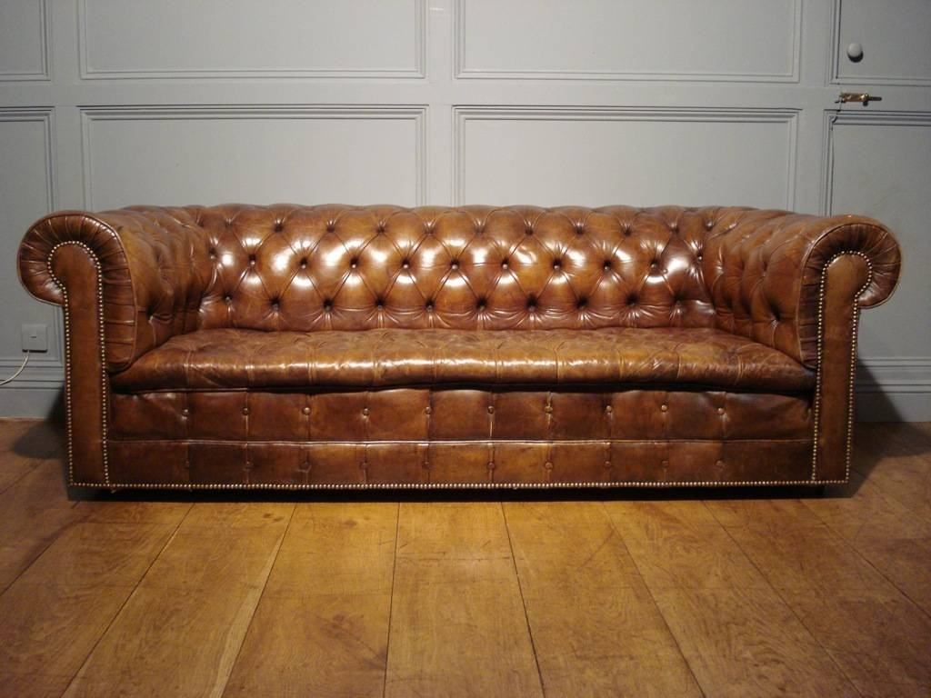 Vintage Brown Leather Chesterfield Sofa Sofa Menzilperde Net