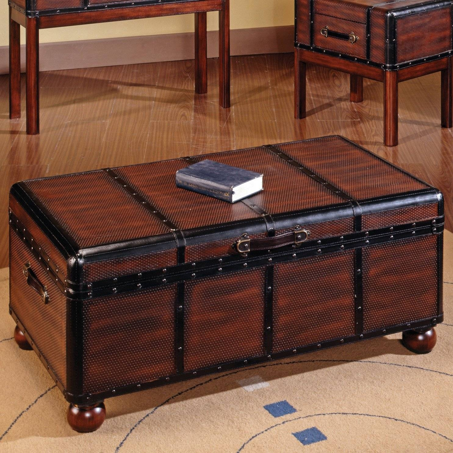 Storage Chest Coffee Table Wood Trunk Coffee Table Rustic Chest for Trunk Chest Coffee Tables (Image 24 of 30)