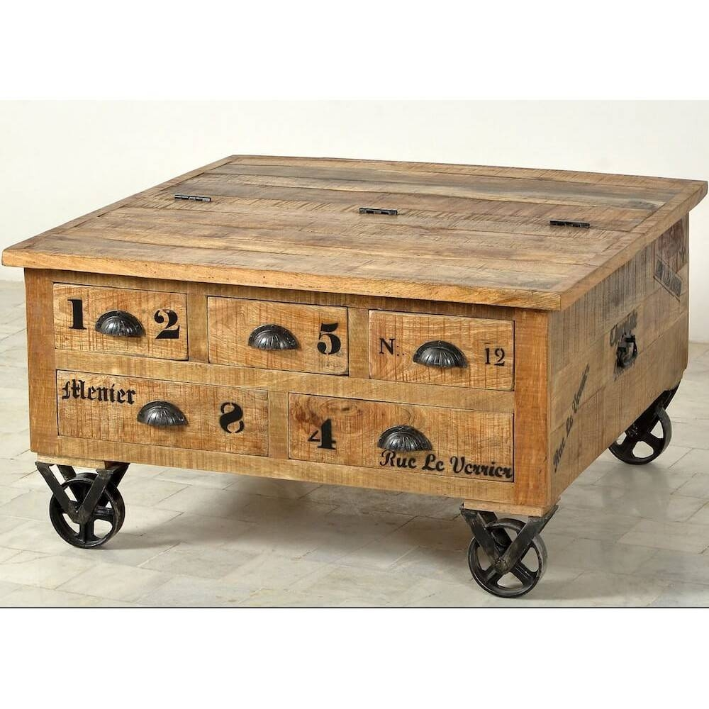 Storage Chest Coffee Table Wood Trunk Coffee Table Rustic Chest for Wooden Trunks Coffee Tables (Image 20 of 30)