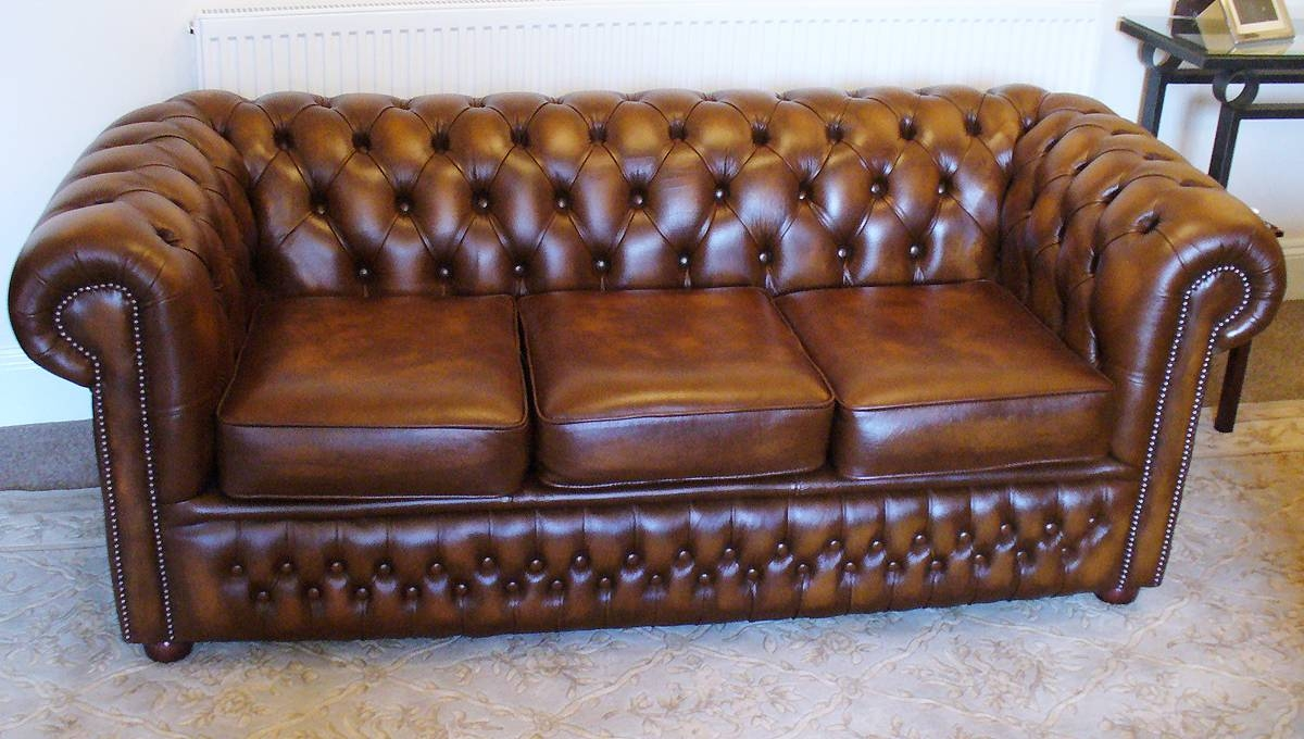 Storage Chesterfield Sofa Antique Tan Leather The Best throughout Vintage Chesterfield Sofas (Image 14 of 30)