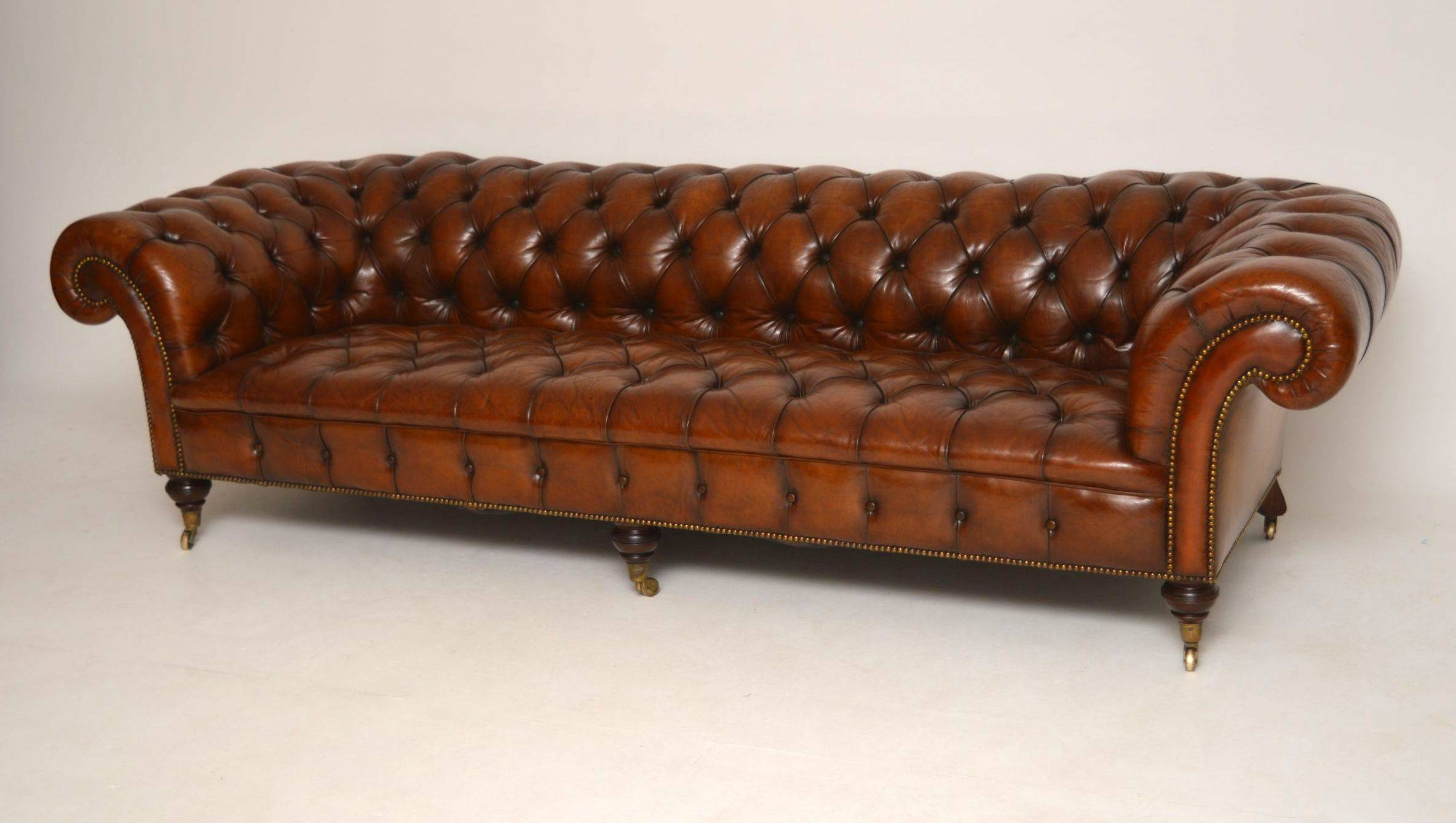 Storage Home Antiques Seating Antique Chesterfield Sofa Antique inside Victorian Leather Sofas (Image 24 of 30)