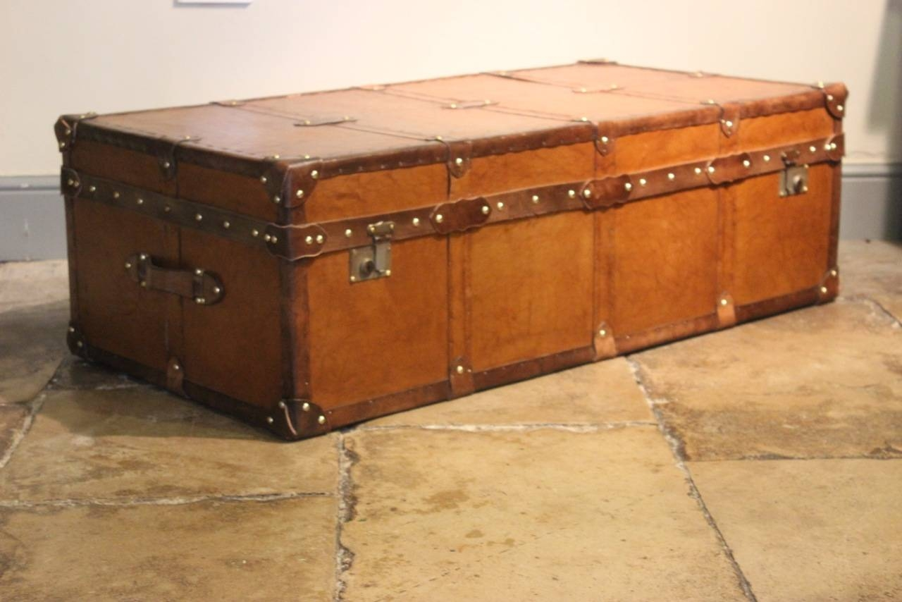 Storage Leather Trunk Coffee Table Large Steamer Trunk Coffee with Large Trunk Coffee Tables (Image 23 of 30)
