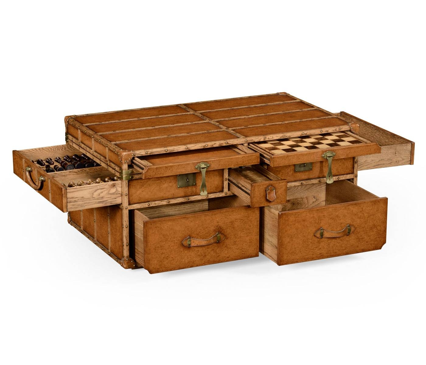 Storage Wood Trunk Coffee Table Wooden Trunks Coffee Tables Chest within Square Chest Coffee Tables (Image 24 of 30)