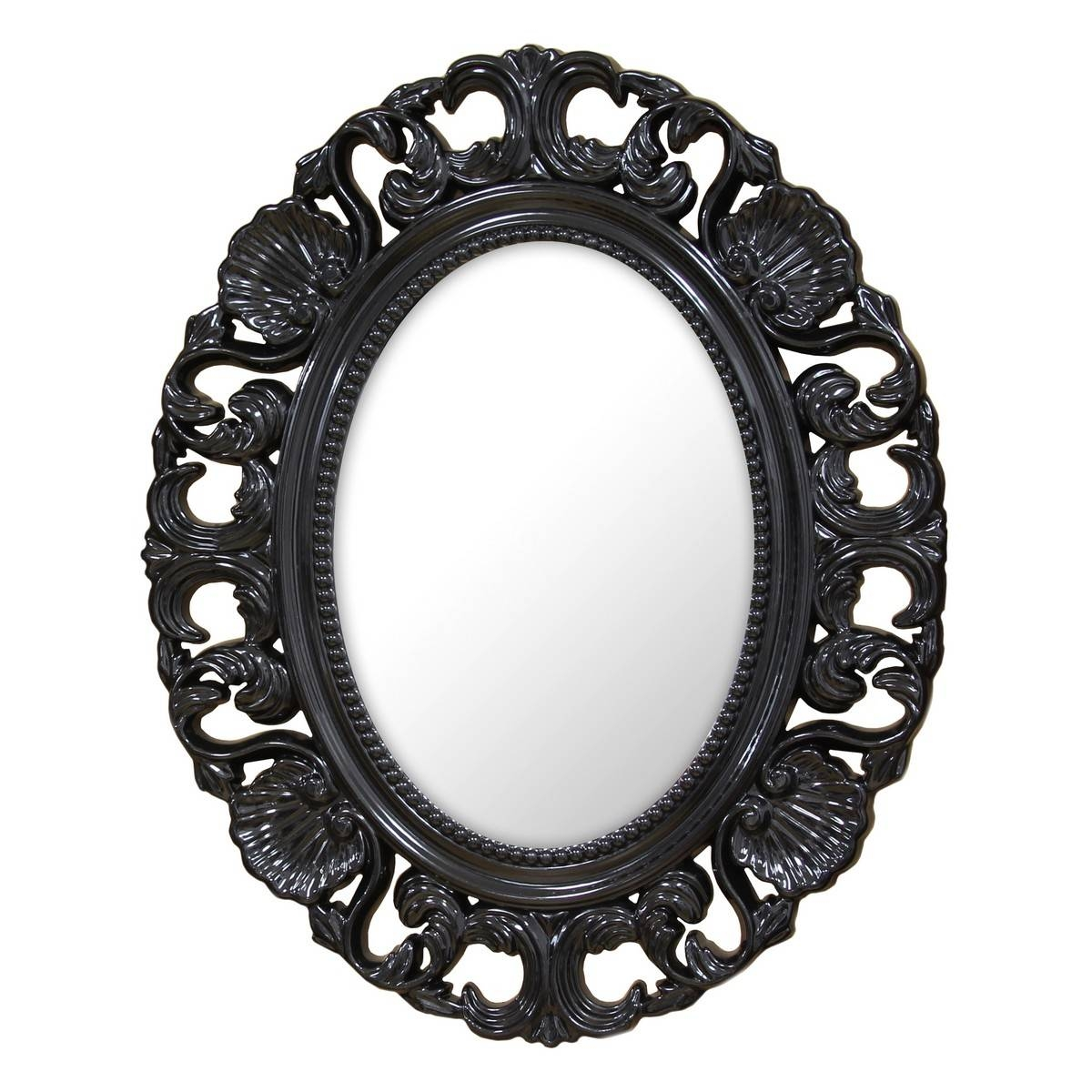 Stratton Home Decor Baroque Mirror – Black Shd0085 At Homelement With Black Baroque Mirrors (View 21 of 25)