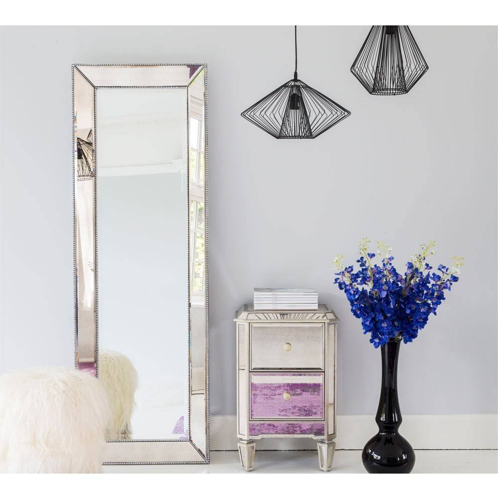 Strictly Studded Tall Mirror | Floor Mirror with Tall Venetian Mirrors (Image 20 of 25)