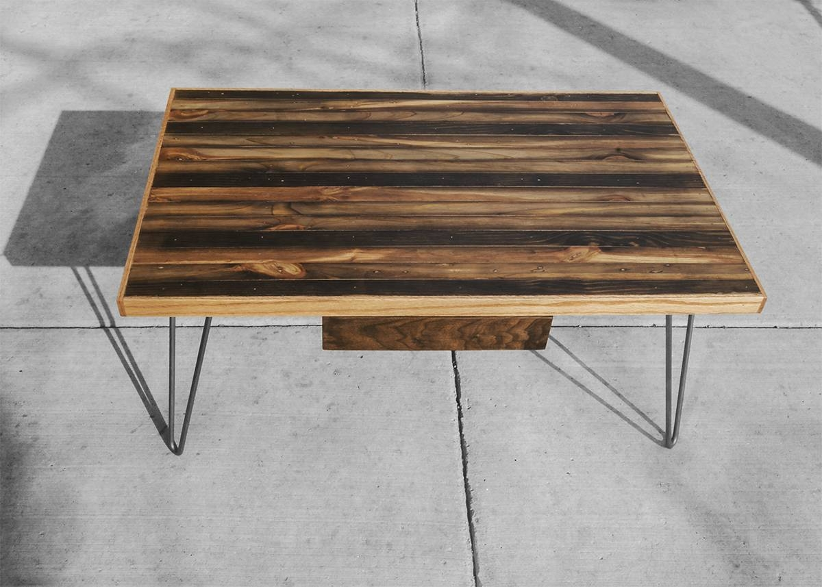 Striped Coffee Table | Rh Timber with regard to White And Oak Coffee Tables (Image 26 of 30)